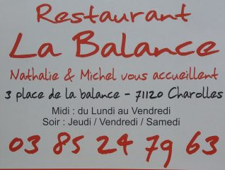 "Restaurant ""la Balance"" à Charolles."