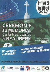70 ème anniversaire du mémorial de Beaubery